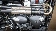 Triumph Street Scrambler, motore visto da destra