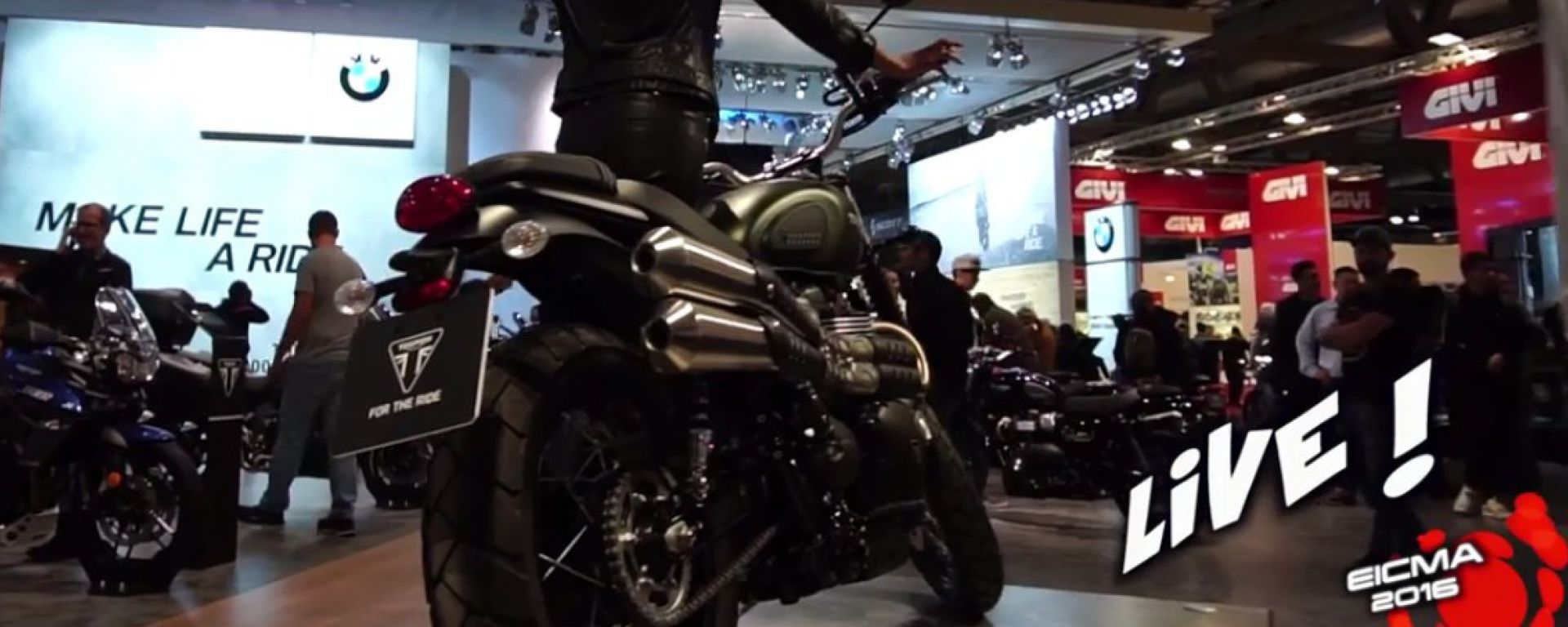 Live Eicma 2016: Triumph Street Scrambler in video