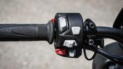 Triumph Street Triple RS: dettaglio del blocchetto elettrico sinistro