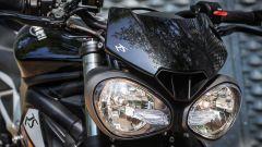 Triumph Street Triple RS: dettaglio del frontale