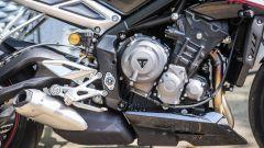 Triumph Street Triple RS: dettaglio del motore