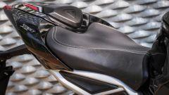 Triumph Street Triple RS: dettaglio della sella