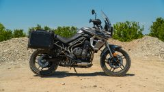 Triumph Tiger 800 XRT, vista laterale