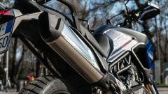 Triumph Tiger 850 Sport 2021, dettaglio dello scarico