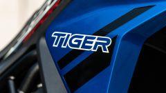 Triumph Tiger 850 Sport 2021, un dettaglio del fianchetto