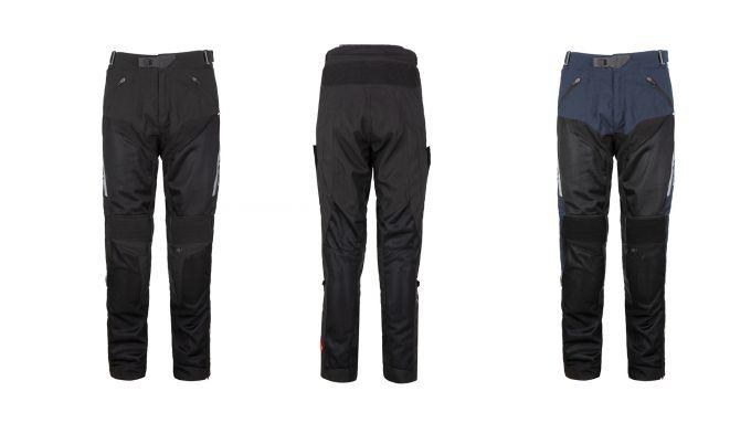 T.ur pantaloni P-Tour neri e dark blue