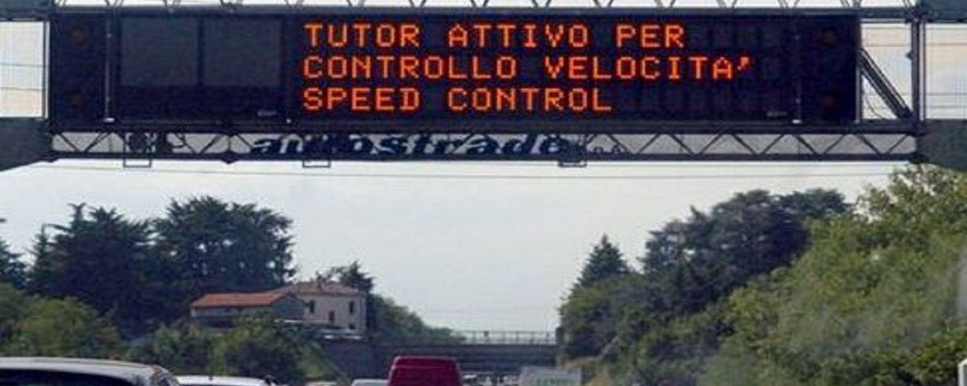 Tutor autostradale, non valide le sanzioni per eccesso di velocità istantanea