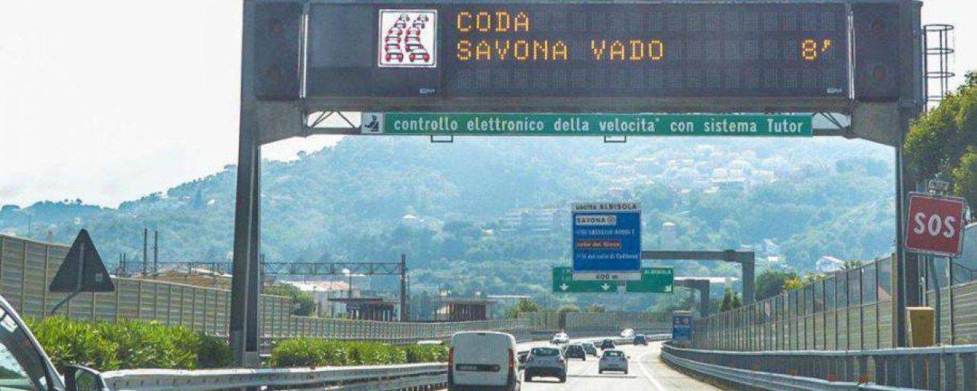 Tutor Autostrade, 103 postazioni attive in tutta Italia