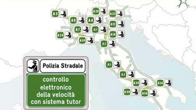 Tutor Autostrade, la mappa della Polizia Stradale