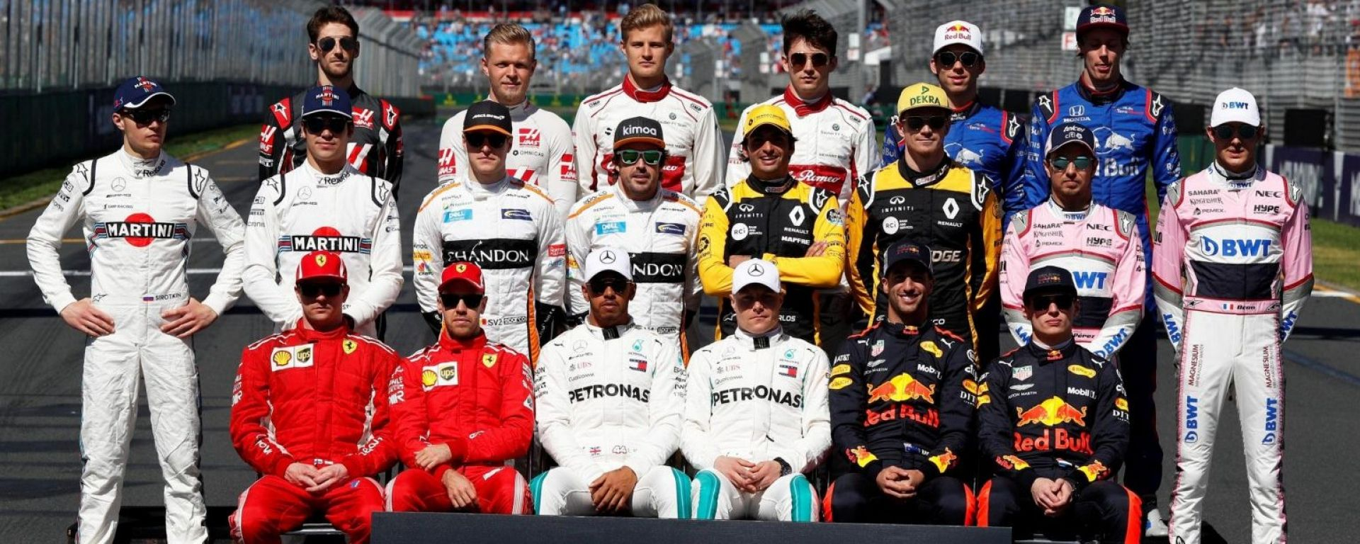 Tutti i numeri del campionato mondiale di Formula 1 2018