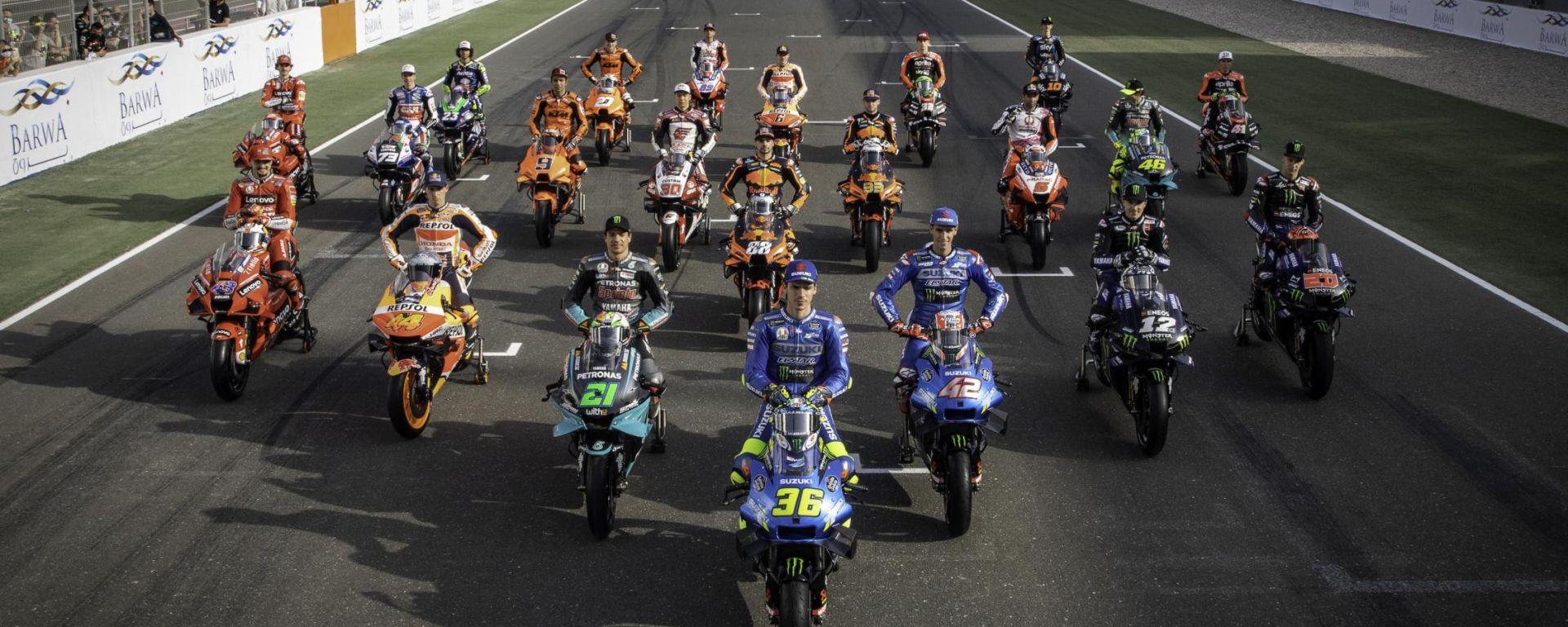 Tutti i piloti MotoGP 2021 in griglia a Losail