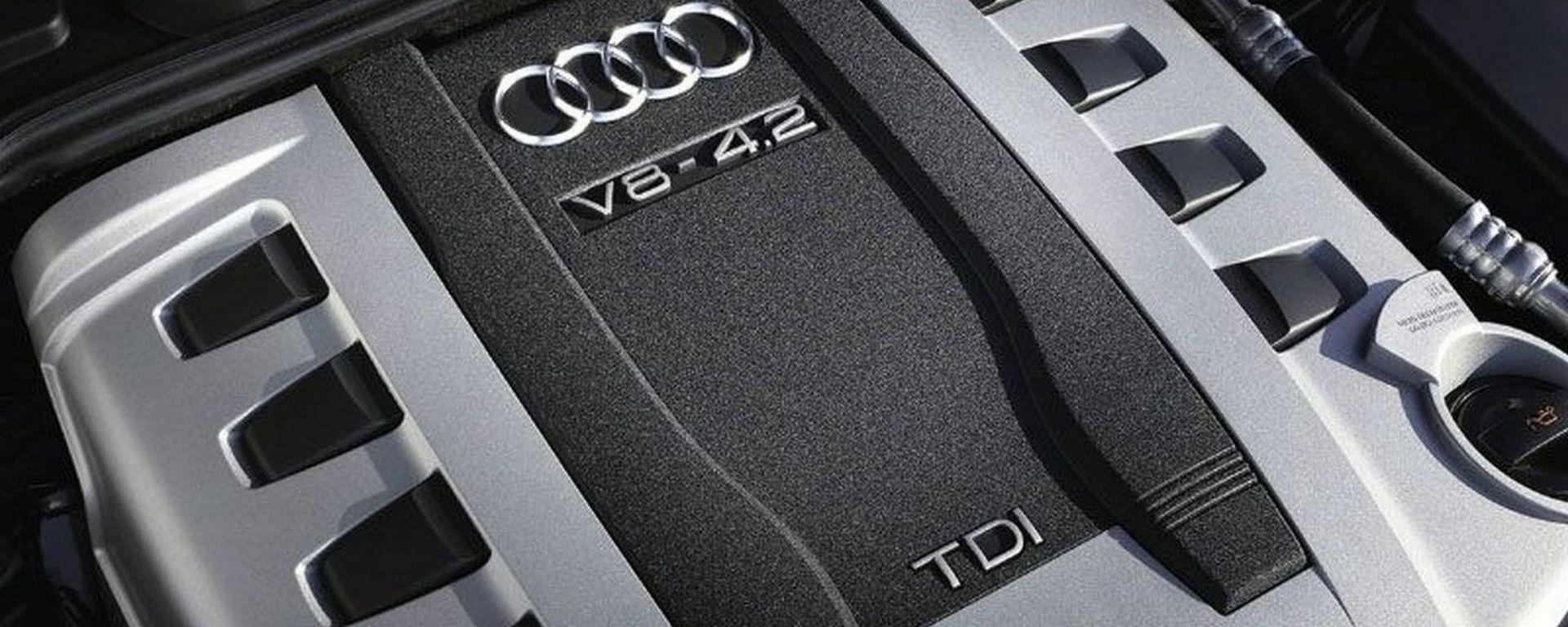 Un 4.2 V8 TDI Audi, oggetto della disputa sulle emissioni falsificate