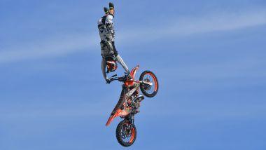 Un acrobatico momento dei Roma Motoday 2019