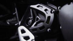 Un altro dettaglio nero della Triumph Scrambler 1200 Bond Edition