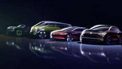 Un bozzetto della prossima gamma elettrica di Volkswagen