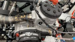 Un dettaglio del motore del kart di Charles Leclerc | Foto: Twitter @MorganCARON_