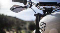 Un dettaglio del serbatoio della Harley-Davidson XG750 da Hill Climb