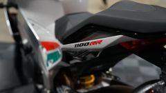 Un dettaglio della Aprilia Tuono 1100 RR Misano Edition