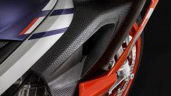 Un dettaglio della carena dell'Aprilia RS 660
