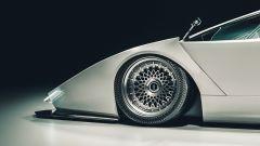 Un dettaglio della Lamborghini Countach immaginata da Khyzyl Saleem