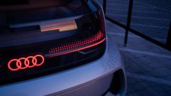 Un dettaglio di Audi AI:ME vista dal retro