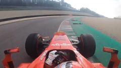 Un fotogramma del giro di James Calado su Ferrari F60 al Mugello