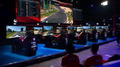 Un momento di una gara del campionato di GT Sport