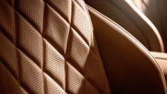 Un particolare dei sedili, climatizzati e con funzione massaggiante, di Classe S 2021