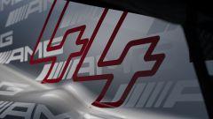 Un particolare del cofano motore della F1 W12 pubblicato sui social dalla Mercedes