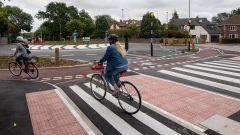 Un passaggio per le bici nella nuova rotonda di Cambridge