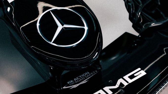 Un primo particolare della F1 W12 pubblicato sui social dalla Mercedes