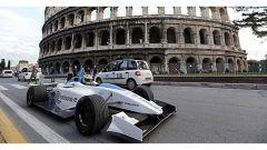 Un prototipo di Formula E utilizzato per inaugurare il Mondiale