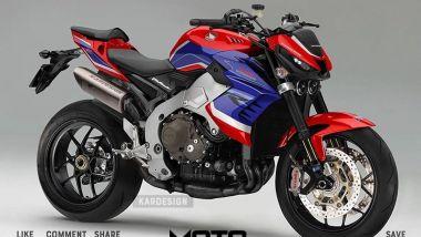 Un render mostra come sarebbe una Honda naked ispirata alla CBR1000RR-R