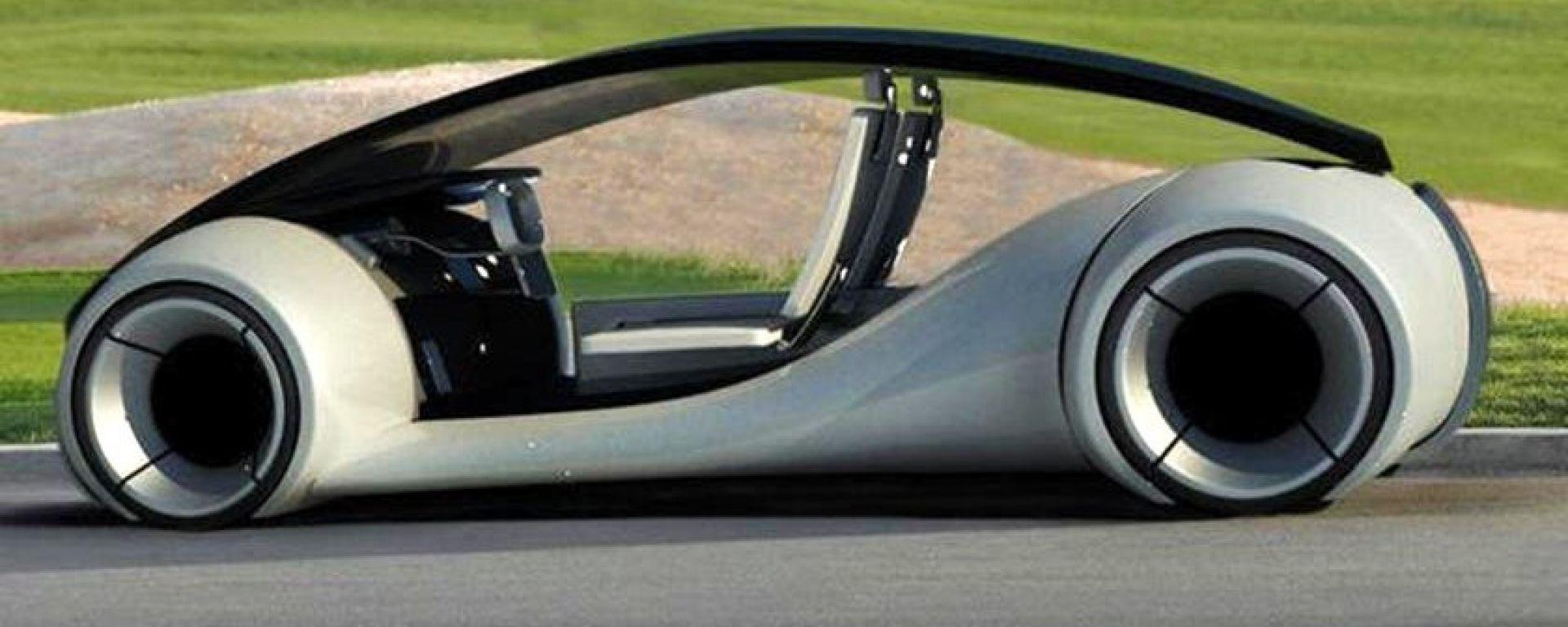 Un rendering che ipotizza le forme di una Apple Car