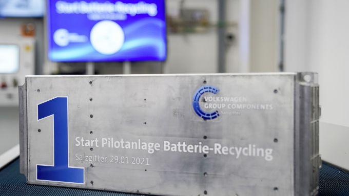 Una batteria riciclata nell'impianto di Salzgitter