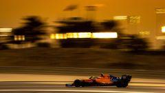 Una delle ultime immagini di Alonso in F1: lo spagnolo ha guidato la McLaren nei test in Bahrain
