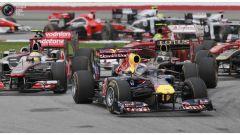 Una fase del Gran Premio della Malesia 2011