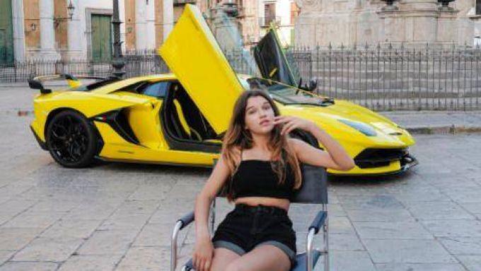 Una foto del servizio fotografico di Letizia Battaglia per Lamborghini