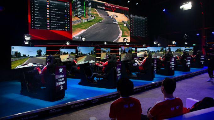 Una gara del campionato di GT Sport