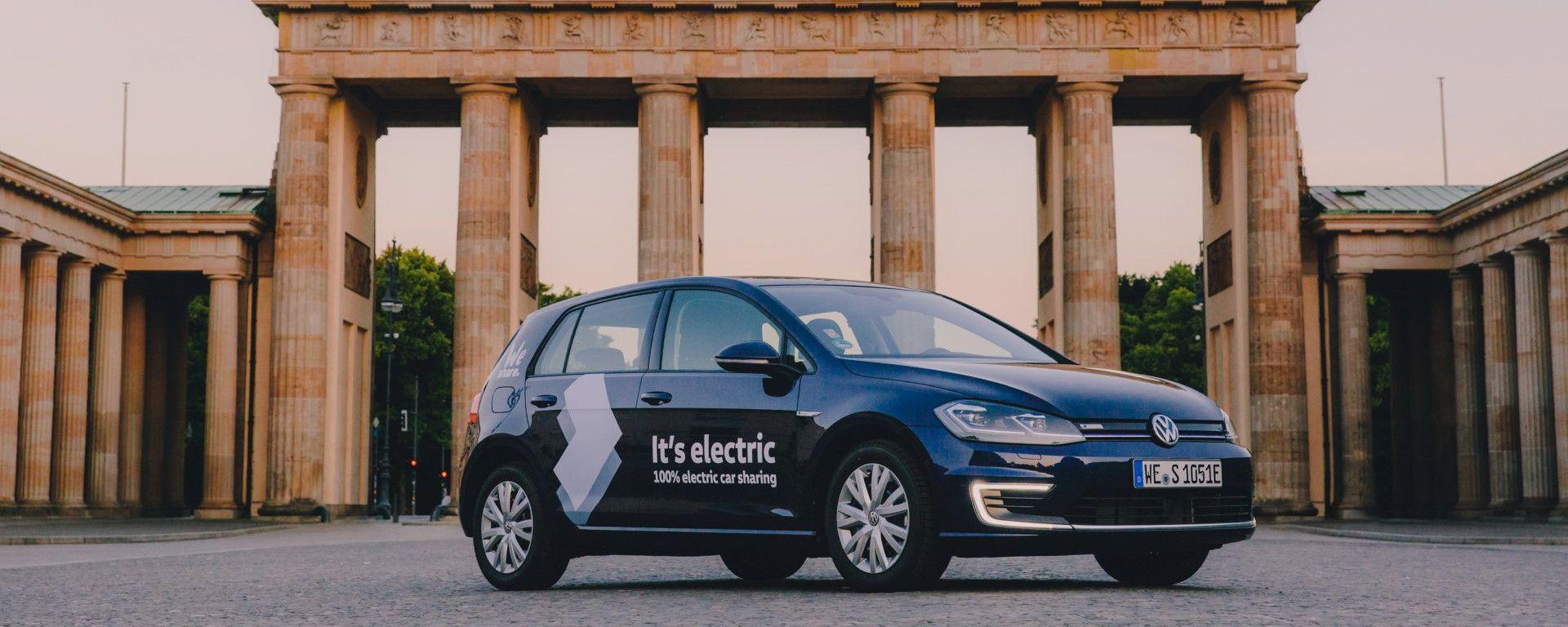 Una Golf elettrica di WeShare a Berlino