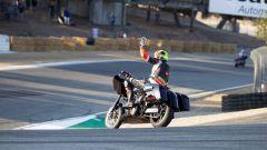 Una Harley-Davidson a Laguna Seca durante la gara di