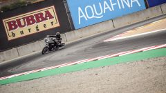 Una Harley-Davidson Road Glide a Laguna Seca durante la gara di