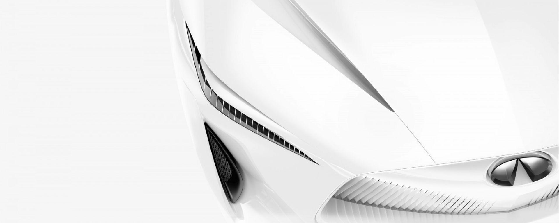 Una immagine teaser della Concept Car Infiniti - Salone di Detroit 2018