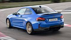 Una ipotetica BMW M2 Coupé 2021 nel rendering di Nikita Chuyko