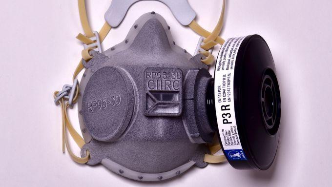 Una mascherina FFP3 realizzata da Skoda