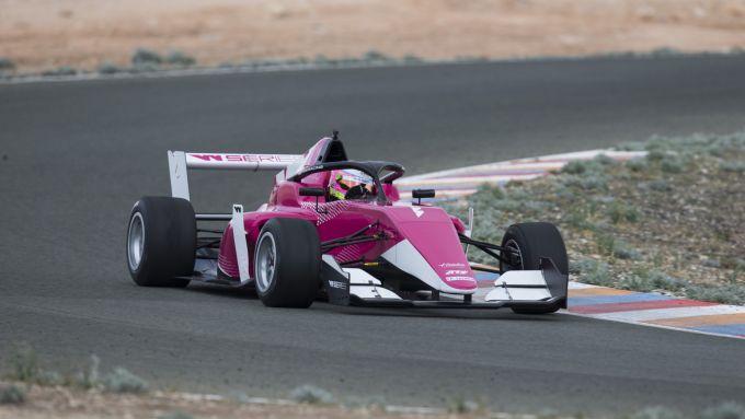 Una monoposto di W-Series nei test di Almeria della passata stagione