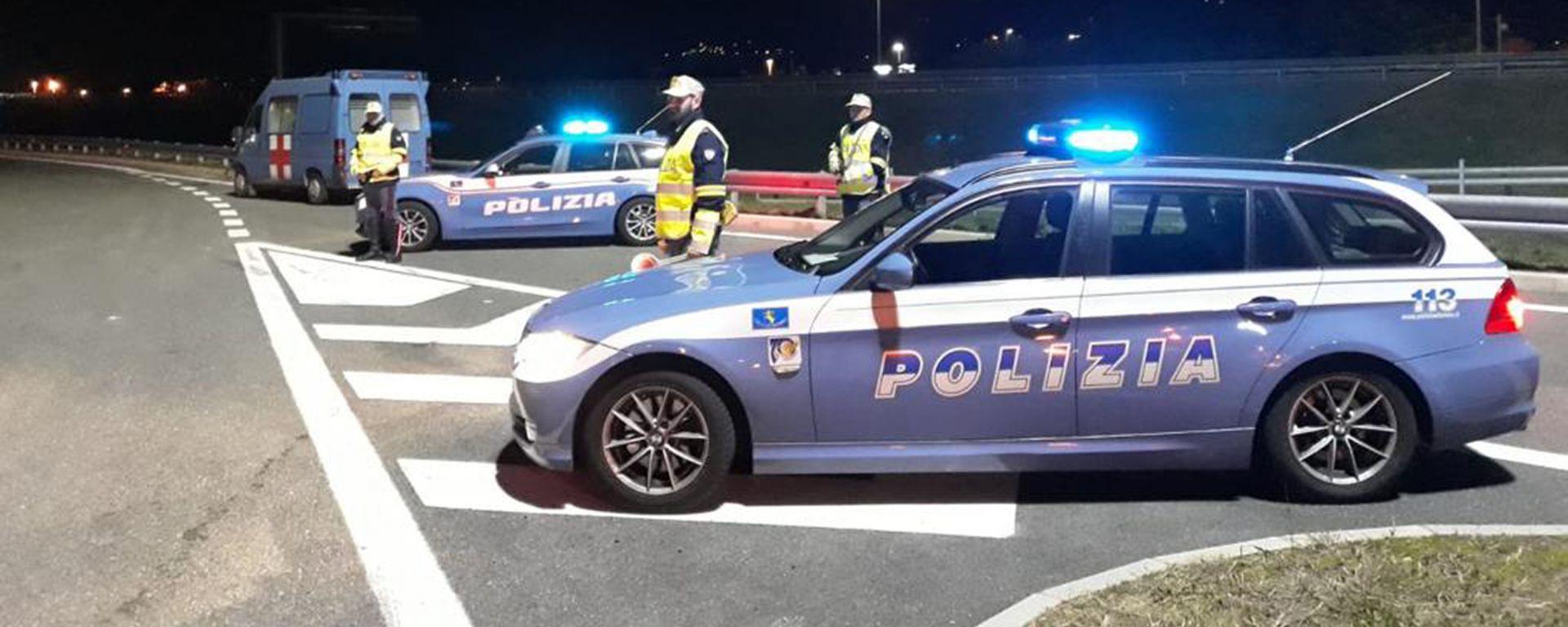 Una postazione di controllo della Polizia Stradale - Courtesy: Polizia di Stato