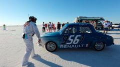 Una Renault Dauphine da record sul lago salato