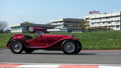 Uno scorcio della pista del Museo Alfa Romeo di Arese