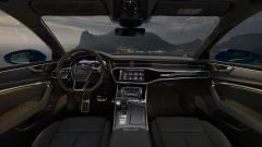 Uno scorcio dell'abitacolo della Audi A7 Sportback